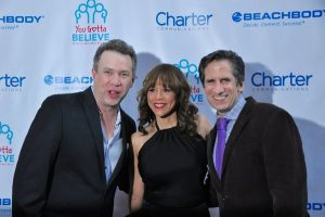 James Wesley, Rosie Perez and Seth Rudetsky at You Gotta Believe's Voices for the Voiceless Broadway event on Sept. 12, 2016. Photo: Genevieve Rafter Keddy