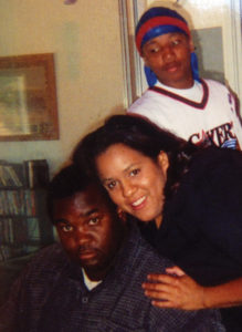 Dewayne Johnson with then-girlfriend and foster son